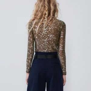 Metallic - golden  top long sleeves